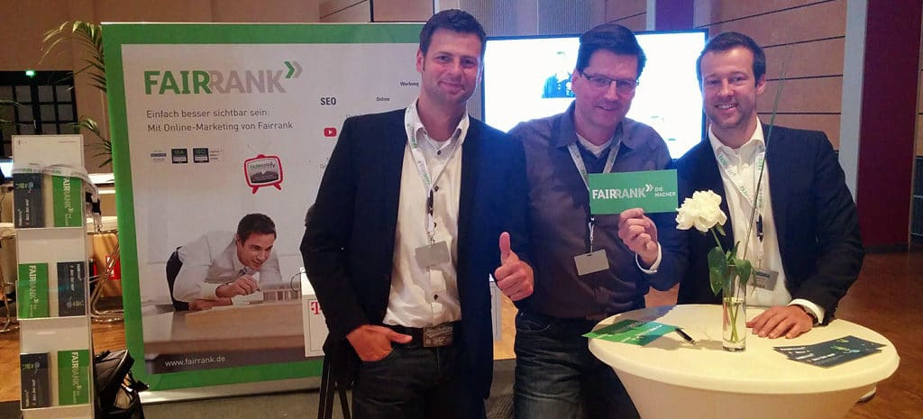 Sales-Trainer Nikolaus Herbert und das Fairrank Sales-Team bei mittelstand DIE MACHER in Hannover