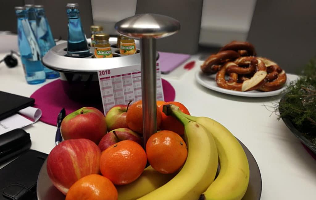 Snacks beim SEO Produkt- und Sales-Training in Freiburg
