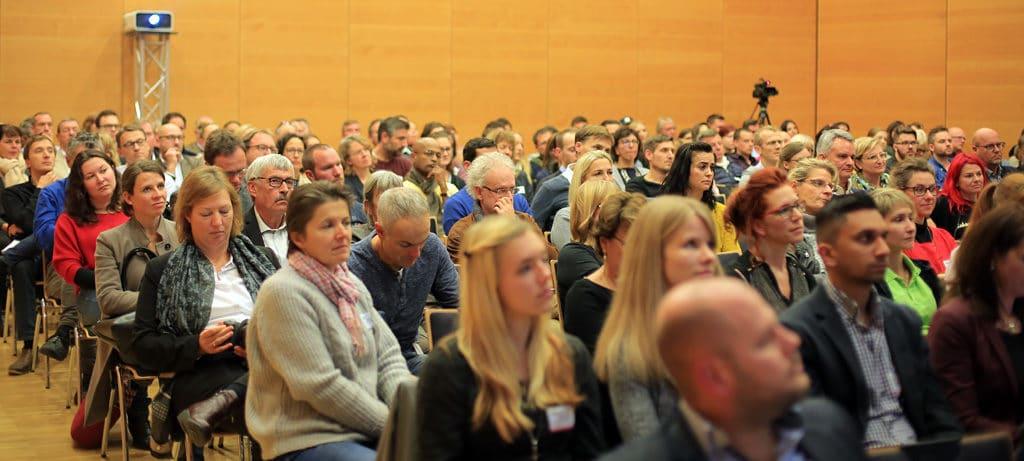 Volles Haus bei der Eröffnung der 2. Freiburger Webdays