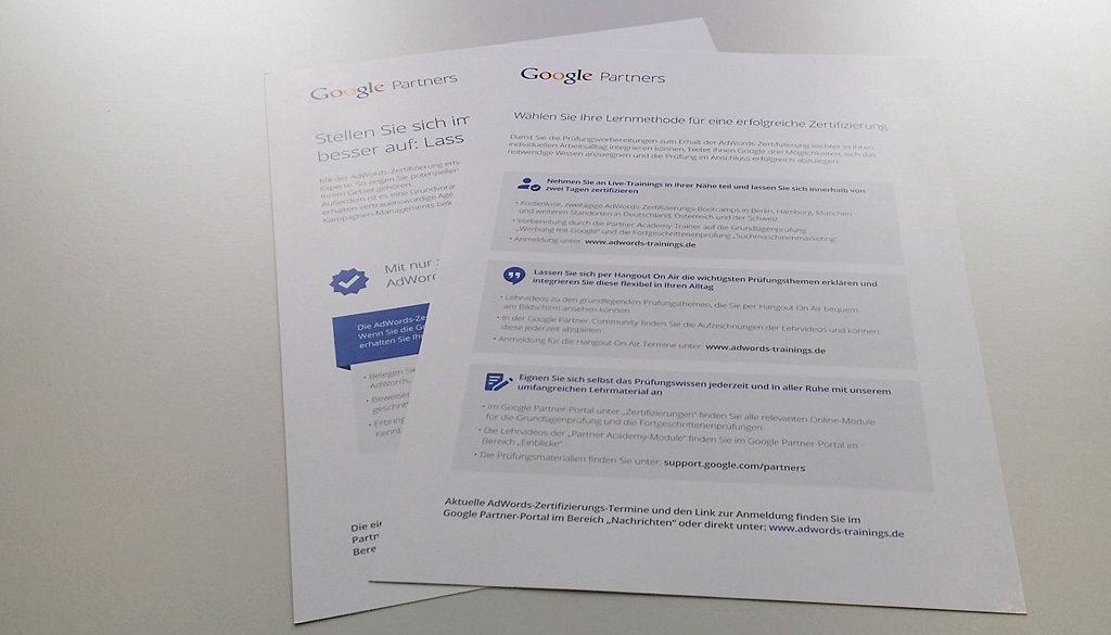 Der Trainingspfad der Google Partner Academy