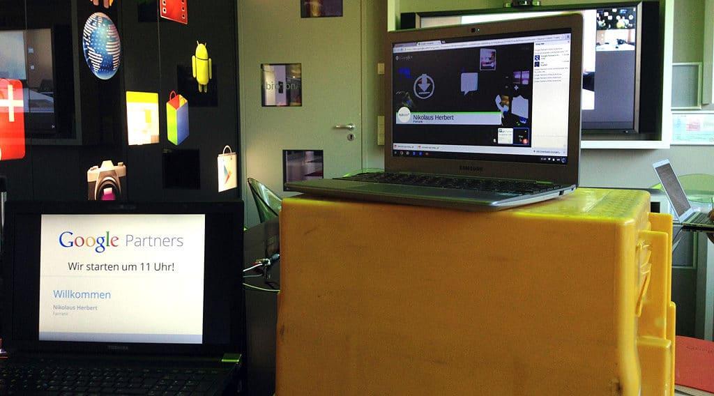Das Hangout-Setup ist getestet und bereit zur Übertragung