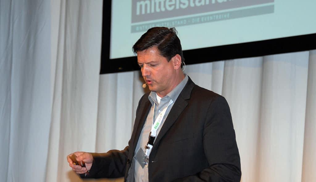 Speaker und Trainer Nikolaus Herbert bei mittelstand DIE MACHER in München
