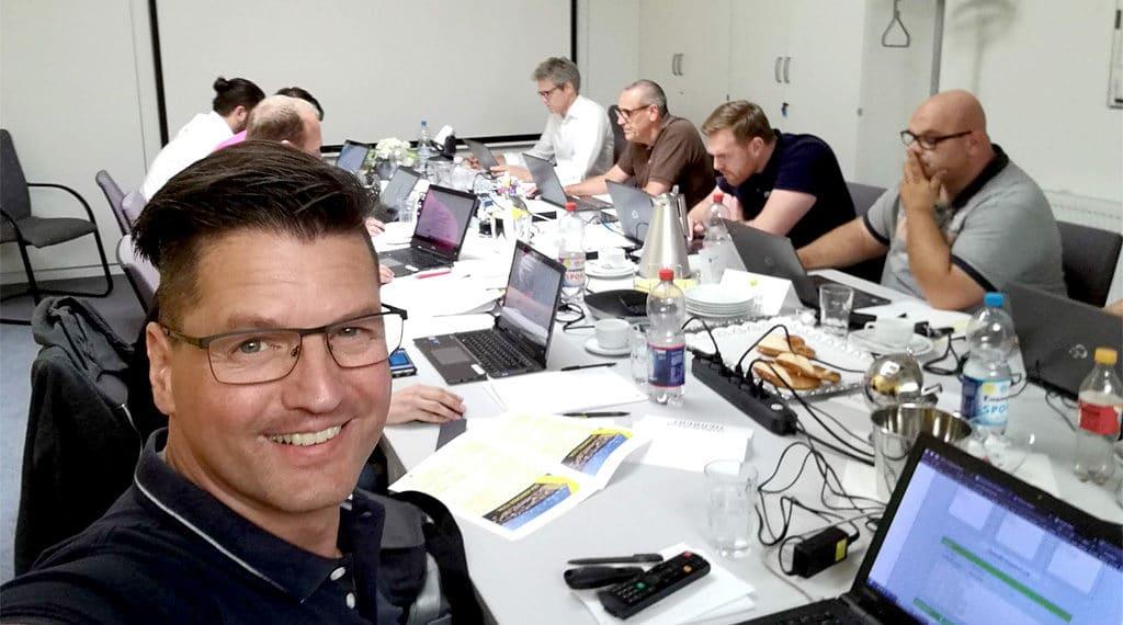 Das .wtv-Team bei der abschließenden Zertifizierungsprüfung
