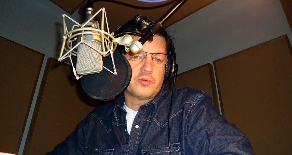 Nikolaus Herbert im Aufnahmestudio