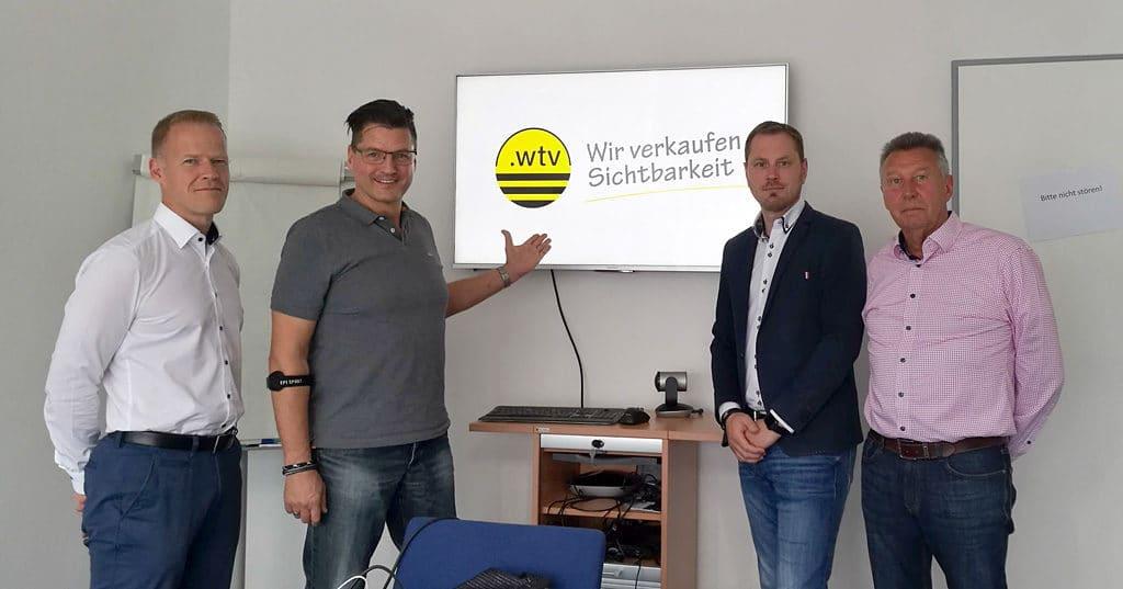 Das Sales-Team von WTV Leipzig nach der bestandenen SEO-Zertifizierung